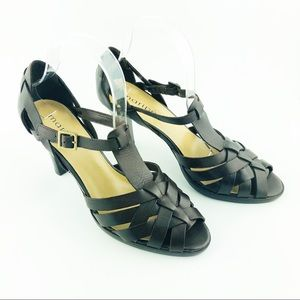 Maripe' Marcy Strappy Leather Sandal Dark Brown